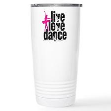 Live, Love, Dance with Ballerina Travel Mug
