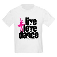 Live, Love, Dance with Ballerina T-Shirt