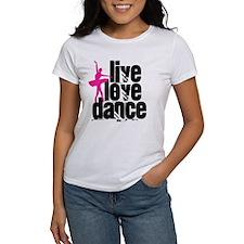 Live, Love, Dance with Ballerina T-Shirt
