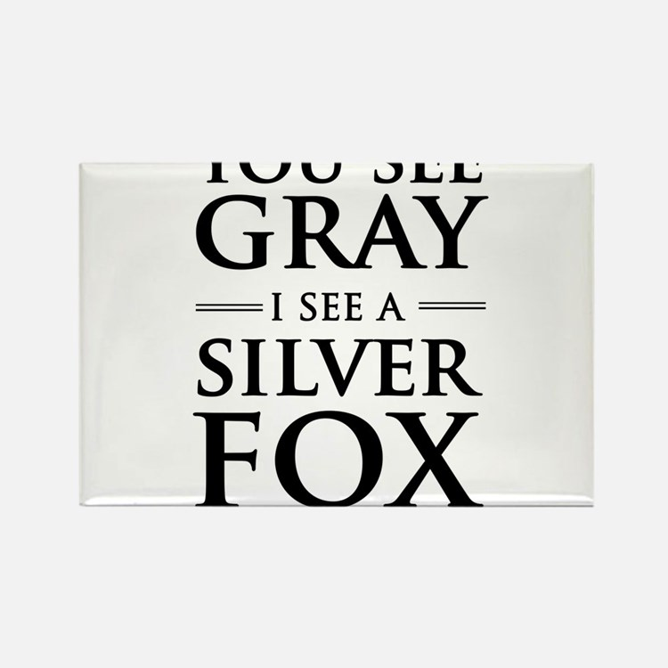 You See Gray, I See a Silver Fox Magnets