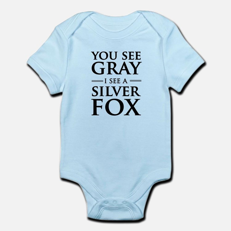 You See Gray, I See a Silver Fox Body Suit