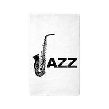Jazz Sax 3'x5' Area Rug