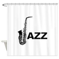 Jazz Sax Shower Curtain
