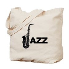 Jazz Sax Tote Bag