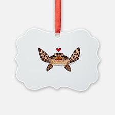 Sea Turtle Love Ornament