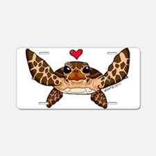 Sea Turtle Love Aluminum License Plate