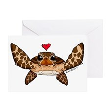 Sea Turtle Love Greeting Cards