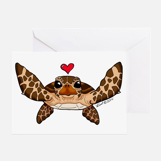 Sea Turtle Love Greeting Cards