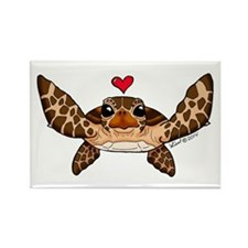 Sea Turtle Love Magnets
