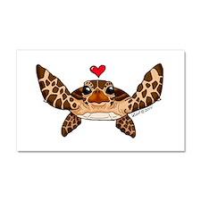 Sea Turtle Love Car Magnet 20 x 12