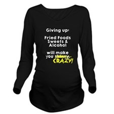 Dieting Tips Long Sleeve Maternity T-Shirt