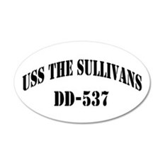 USS THE SULLIVANS 20x12 Oval Wall Decal