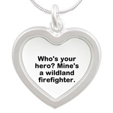 Who's Your Hero? Mine's A Silver Heart Necklaces