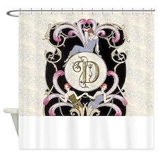 Monogram D Barbier Cabaret Shower Curtain