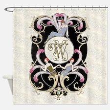 Monogram W Barbier Cabaret Shower Curtain