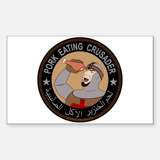 Pork Eating Crusader Sticker (Rectangle)