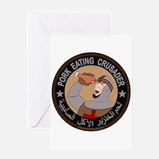 Pork Eating Crusader Greeting Card