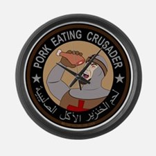 Pork Eating Crusader Large Wall Clock