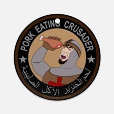 Pork Eating Crusader Ornament (Round)