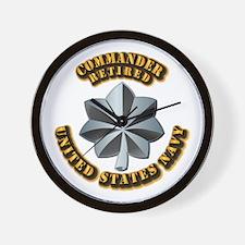 Navy - Commander - O-5 - V1 - Retired T Wall Clock