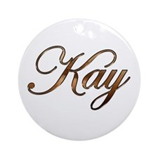 Kay Ornament (Round)