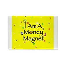 Cute Wealth affirmation Rectangle Magnet