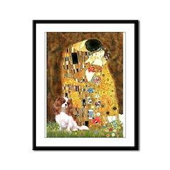 The Kiss & Cavalier Framed Panel Print