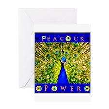 Peacock Power--BEWARE! Greeting Cards