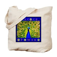 Peacock Power--BEWARE! Tote Bag
