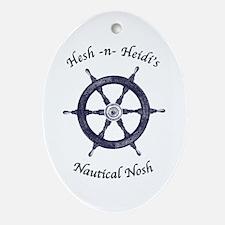 Hesh n Heidi's Nautical Nosh Oval Ornament