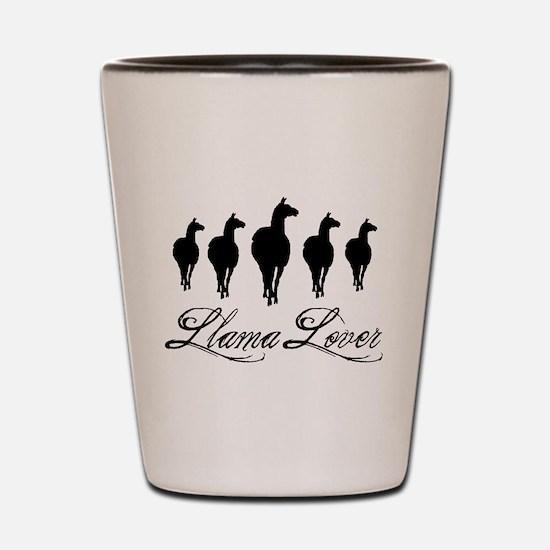 Llamas Llama Lover Shot Glass