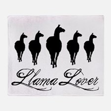 Llamas Llama Lover Throw Blanket