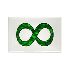 Green Infinity Symbol Rectangle Magnet