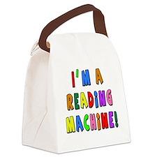 Im a Reading Machine Canvas Lunch Bag