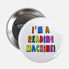 "Im a Reading Machine 2.25"" Button (10 pack)"