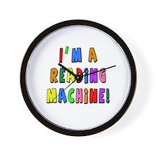 Im a Reading Machine Wall Clock