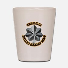 Navy - Commander - O-5 - V1 - w Text Shot Glass