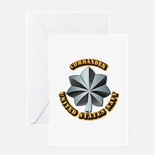 Navy - Commander - O-5 - V1 - w Text Greeting Card