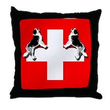 Swiss St. Bernards Throw Pillow