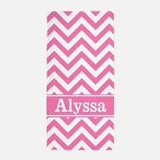 Pink Chevron Personalized Beach Towel