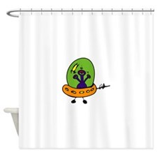 Space Shuttle Spaceship Shower Curtain