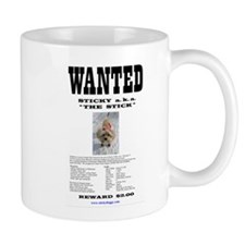 Sticky's Wanted Poster Coffee Mugs