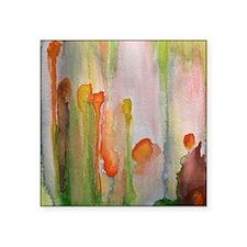 """slip"" abstract watercolor  Square Sticker 3"" x 3"""
