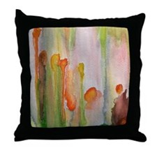 """""""slip"""" abstract watercolor painting Throw Pillow"""