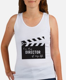 Director of my life Quote Clapperboard Tank Top