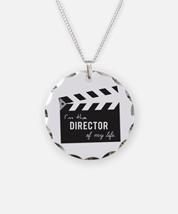 Director of my life Quote Clapperboard Necklace