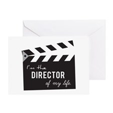 Director of my life Quote Clapperboard Greeting Ca