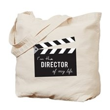 Director of my life Quote Clapperboard Tote Bag