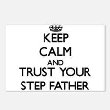 Keep Calm and Trust your Step-Father Postcards (Pa