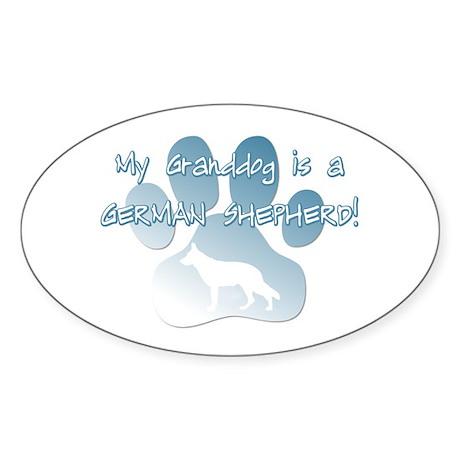 German Shepherd Granddog Oval Sticker